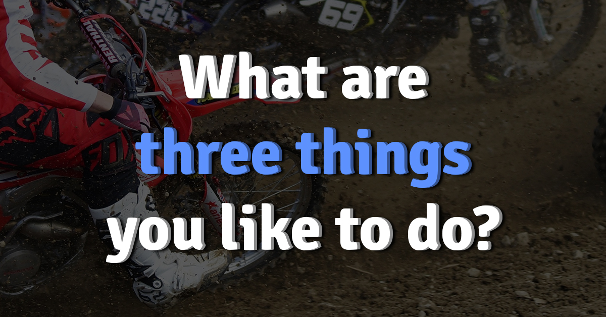 Image result for three things i like to do
